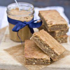 Gluten Free Peanut Butter and White Chocolate Blondies | Vagabond Baking