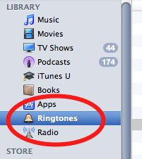 how to create a iPhone ringtone using songs.
