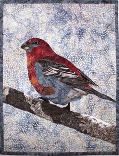 Pine Grosbeak quilt pattern by Lenore Crawford