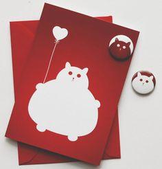 Fat Cat #Valentine (http://blog.hgtv.com/design/2013/02/06/daily-delight-everybody-wants-a-fat-cat-valentine-right/?soc=pinterest)