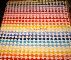 Questa coperta è stata realizzata   con punto margherita e punto tunisi