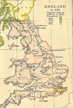 Map of Anglo Saxon Britain