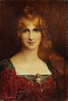 Elisabeth Sonrel - Portrait de femme aux yeux verts