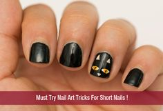 Must Try Nail Art Tricks For Short Nails – Nail Art For Beginners!