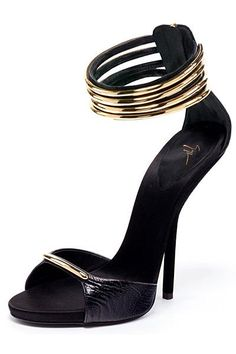 Giuseppe Zanotti Shoes for 2013 Spring-Summer fashion shoes, giuseppe zanotti, giusepp zanotti, 2013 springsumm, girl fashion, heel, black shoes, sandal, black gold
