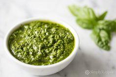 Fresh Basil Pesto Recipe on SimplyRecipes.com