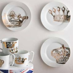 Rosanna Kings Road Redux Dessert Plates. #laylagrayce #tabletop