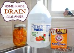 water, cleaner recipes, cleaning, household, vinegar, green, homemade laundry detergent, homemad drain, drain cleaner