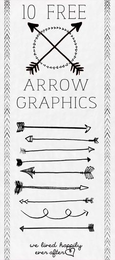 10 Free Arrow PNG Graphics - Thanks Tiffany!