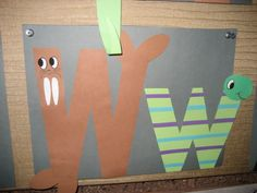 """Ww"" Letter of the week art project"