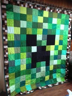 Quilting: Devans Creeper - Creeper Quilt for Connor