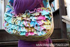 "Ruffled ""Hobo"" Bag from Sew Sweetness"