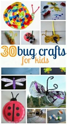 30 Bug Crafts for Kids #AETN #BeMore