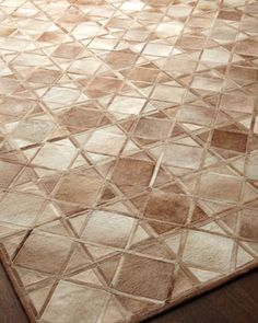 """""""Diamond"""" Rug at Horchow."""