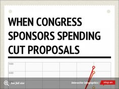 When Congress Sponsors spending cut Proposals