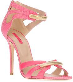 Elie Saab Pink Strappy Sandal