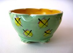 Hand Painted Hand Made Stoneware Bowl    X Marks by JoyceSloanim, $32.00