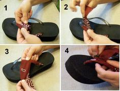 Fabric wrapped flip flops