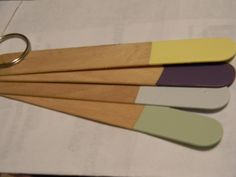 Paint room colors on some popsicle sticks and pop them in your purse - perfect for color matching when out and about!