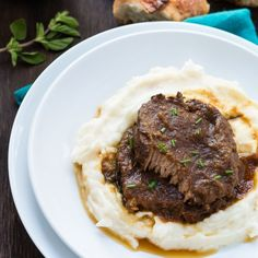 Perfect Eye of Round Roast cooked in a flavorful wine broth until the beef is tender and divine.