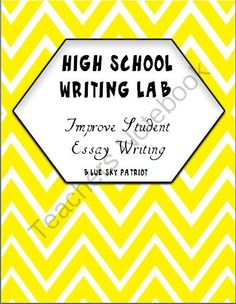 High School Writing Lab Writing Center from BlueSkyPatriot on TeachersNotebook.com -  (26 pages)  - Just add your rubric and students are ready to write. Lab improves student writing and provides writing independence.