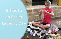 8 Tips to an Easier Laundry Day - See my sort strategy, and how I involve the CGH kids! Feel free to repin! xoxo