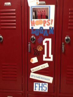 locker decor on Pinterest | Basketball Decorations, Locker ...