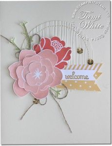 February 13, 2014 Tami White: Gorgeous Simple Stems WOW Card Fabulous Phrases, Subtles Designer Series Paper Stack, Secret Garden Framelits