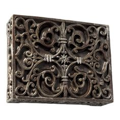 Craftmade Artisan Carved Scroll Work Design Door Chime in Hand Painted Renaissance Crackle