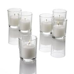 Set of 72 White Unscented Votive Candles and 72 Holders   by Quick Candles - $39.99