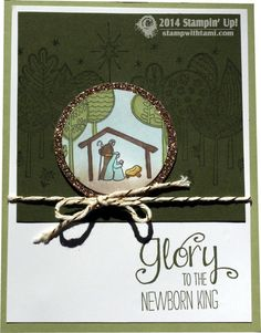 Stampin Up Spotlight technique Newborn King stamp set. christmas card by Glenda. Details on the blog. #stampinup #christmas #handmade