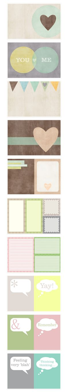 Free printable Journal Cards - from SJ's Little Musings #ProjectLife #Scrapbooking - use as labels also :)