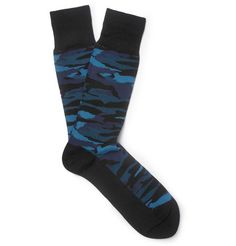 Paul Smith Shoes & AccessoriesCamouflage-Patterned Cotton-Blend Socks