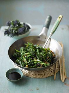 Sauteed Asian Greens with Soy Dipping Sauce