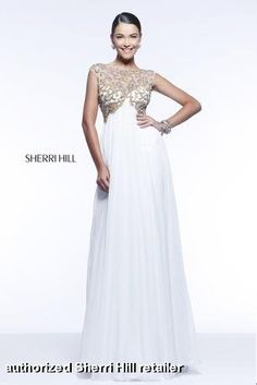 Sherri Hill Beaded Neckline Pageant Gown style 11108