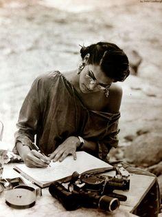 writing on the beach