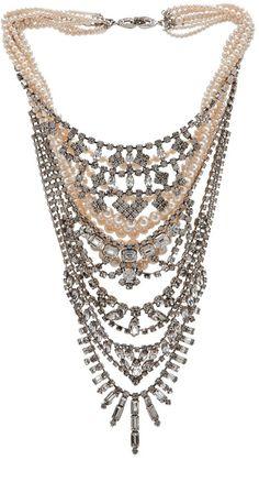 Tom Binns stunning statement crystal necklace
