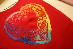 heart doily t-shirt tutorial