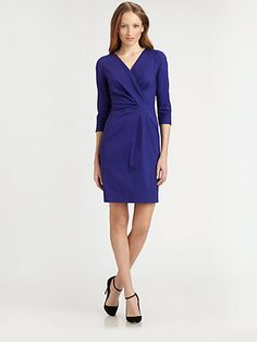 Lafayette 148 New York - Laurel Dress - Saks.com, $428.  Really great seaming and draping.