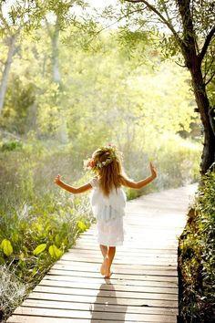 carefree happiness little girls, walks, fairies, happiness, angels, quot, flower girls, little flowers, girls life