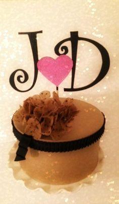 #CAKE TOPPER #MONOGRAM #Custom by OHONEFINEDAY on Etsy, $38.00