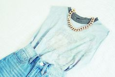 chanel, fashion, statement necklaces, style, dream closet, high waisted shorts, chains, summer outfits, blues
