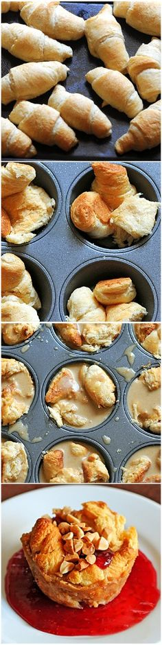 PB Bread Pudding Cupcakes.  xoxo