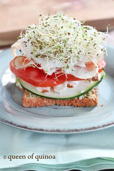 Open Faced Turkey Sandwich | Gluten-Free | Queen of Quinoa