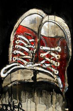 "Saatchi Online Artist Loui Jover; Drawing, ""red stars"" #art"