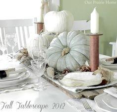Our Prairie Home: Fall Tablescape Decor