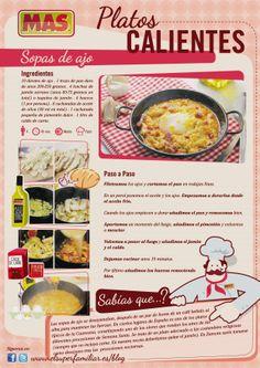 #Infografia que muestra la #receta de la tradicional sopa de ajo, ¿la preparamos?  #recetas #inforecetas #infografías #recipes #infograhics