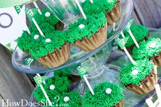 themed birthday parties, golf cakes, father day, party cupcakes, birthday cupcakes