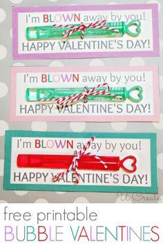 Valentine Printable: Bubbles - Ucreate