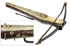 A fine encrusted crossbow,  			                			  			   			                              						  			provenance:  			   			Germany  			                			  			dating:  			   			  			17th Century